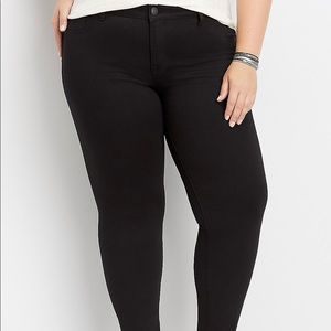 Maurice's DenimFlex Black Jeggings Women Plus 22